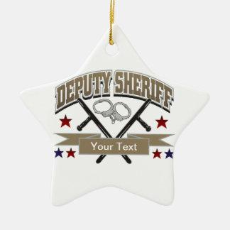 Personalized Deputy Sheriff Ceramic Ornament