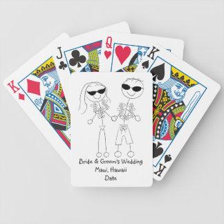 Personalized Destination/Beach/Tropical Wedding Poker Deck