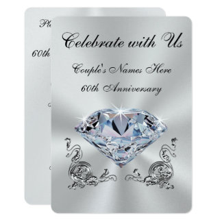 Personalized Diamond Anniversary Invitations