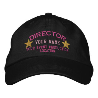Personalized DIRECTOR Stars Cap Embroidery Embroidered Hat