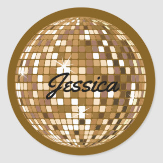 Personalized Disco Ball Stickers