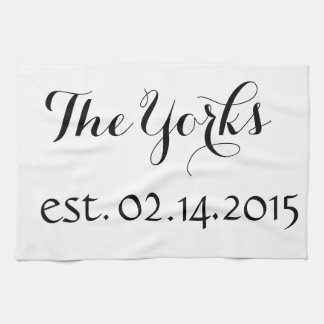 Personalized Dish Towel - Name and Est. Date