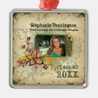 Personalized distressed photo graduation ornament