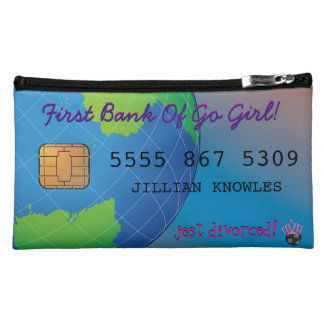 Personalized Divorce Funny Custom Credit Card Makeup Bag