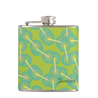 Personalized DNA Structure Hip Flask