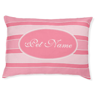 Personalized dog bed Chic pink girlie pet bed