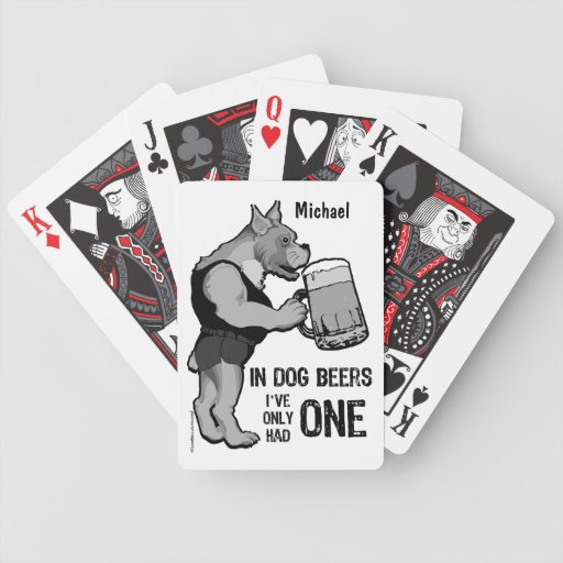 Personalized  Dog Beers Deck Of Playing Cards