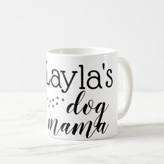 personalized dog fur mom mug