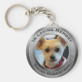Personalized Dog Memorial Key Ring