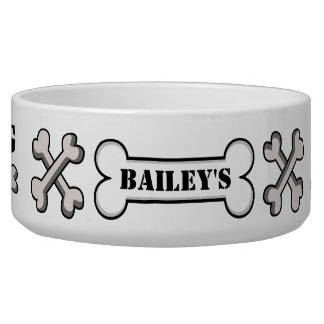 Personalized Dog Name Dog Dish Pet Bowl