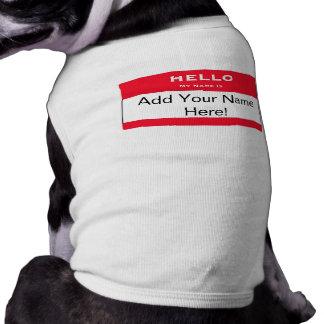Personalized Dog Name Tag Dog Shirt