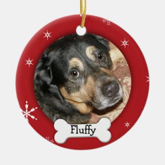 Personalized Dog/Pet Photo Holiday Ceramic Ornament