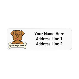 Personalized Dogue de Bordeaux Return Address Label