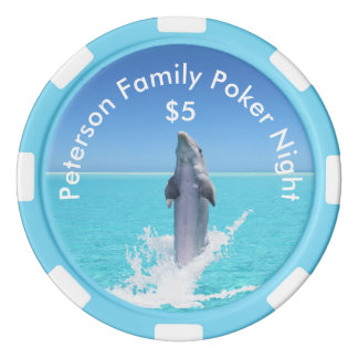 Personalized Dolphin Poker Chips