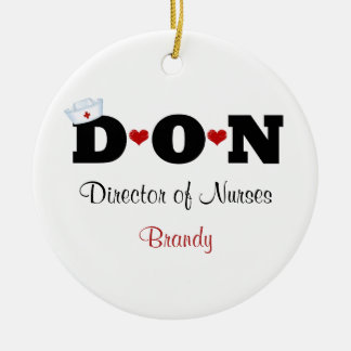 Personalized DON Nurse Ornament