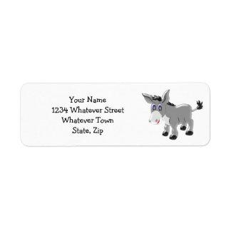 Personalized Donkey Design Return Address Label