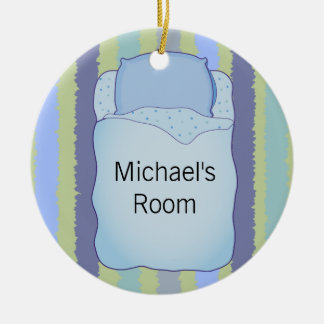 Personalized Door Hanger 2-sided Round Ceramic Decoration