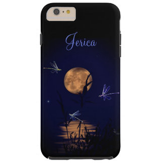 Personalized Dragonflies Under Full Moon Tough iPhone 6 Plus Case