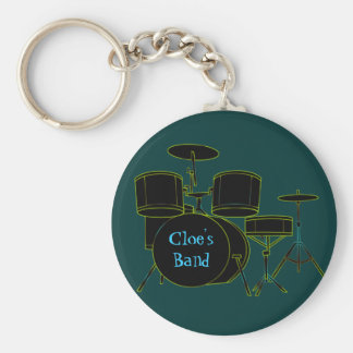 Personalized Drumset Keychain