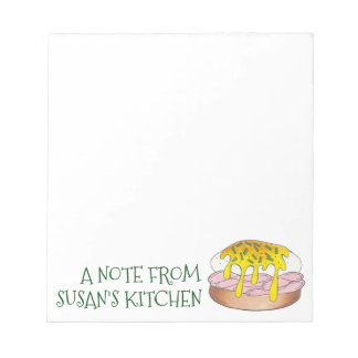 Personalized Eggs Benedict Food Foodie Kitchen Notepad
