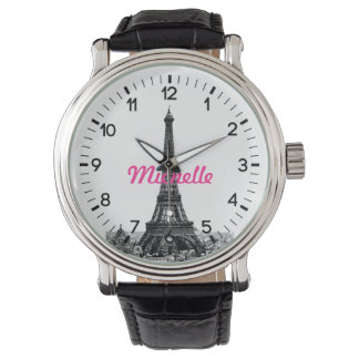 Personalized Eiffel Tower Paris Watch