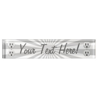 Personalized Electric Plug Wall Outlet Fun Name Plate