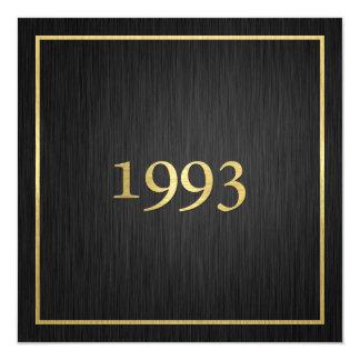 Personalized Elegant Metallic Gold 1993 13 Cm X 13 Cm Square Invitation Card