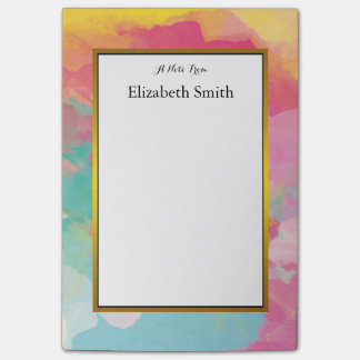 Personalized Elegant Watercolor Post-it® Notes