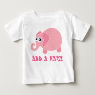 Personalized Elephant Baby T-shirt
