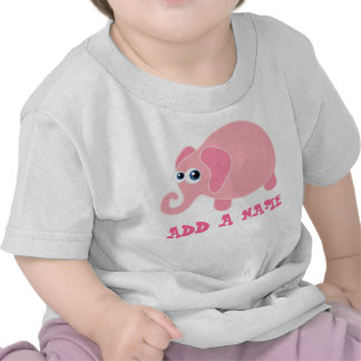 Personalized Elephant Baby T-shirt