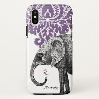 Personalized Elephant Damask iPhone 7 case