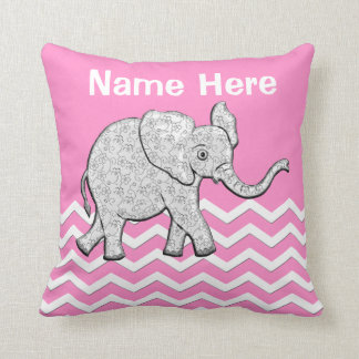Personalized Elephant Gifts for Baby Girls Pillow