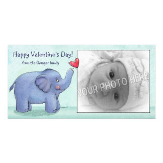 Personalized Elephant Valentine's Day Photo Cards
