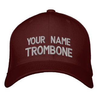 Personalized Embroidered Trombone Hat