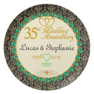 PERSONALIZED Emerald 35th Anniversary Plate