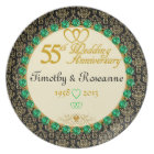 PERSONALIZED Emerald 55th Anniversary Plate