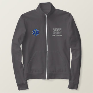 Personalized Emergency Medical Technician EMT Embroidered Jacket