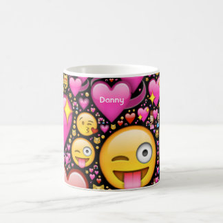 Personalized EMOJI LOVE Kids Mugs Named