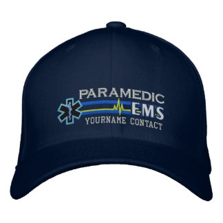 Personalized EMS Paramedic Star of Life Embroidered Hat
