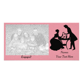 Personalized Engaged Romantic Couple Toasting Wine Card