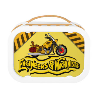 Personalized Engineers and Machinists Motorcycle Lunch Box