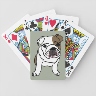 Personalized English Bulldog Puppy Bicycle Playing Cards