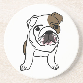 Personalized English Bulldog Puppy Coaster