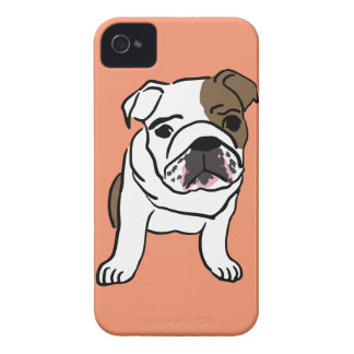Personalized English Bulldog Puppy iPhone 4 Cases