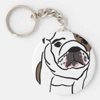 Personalized English Bulldog Puppy Key Ring