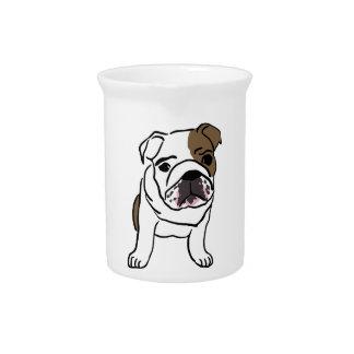 Personalized English Bulldog Puppy Pitcher