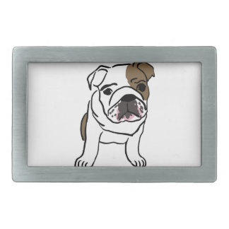 Personalized English Bulldog Puppy Rectangular Belt Buckles