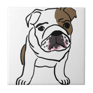 Personalized English Bulldog Puppy Tile