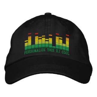 Personalized Equalizer Embroidery 4 the DJ in You! Embroidered Hats