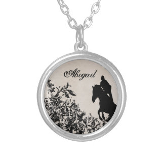 Personalized Equestrian Horse Jumping Necklace